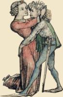 Knutschendes Paar aus dem Wolfegger Hausbuch
