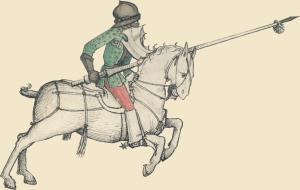 Tjostender Reiter im Wolfegger Hausbuch