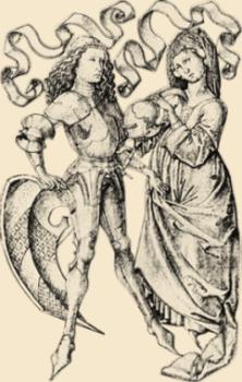 Spätmittelalterliches Paar