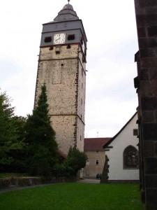 Stadtturm und Teil des Veranstaltungsgeländes