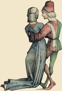 Spätmittelalterliches Paar aus dem Wolfegger Hausbuch