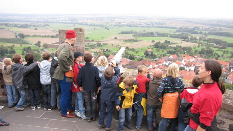 Erlebnisführung auf dem Bergfried der Burg Münzenberg