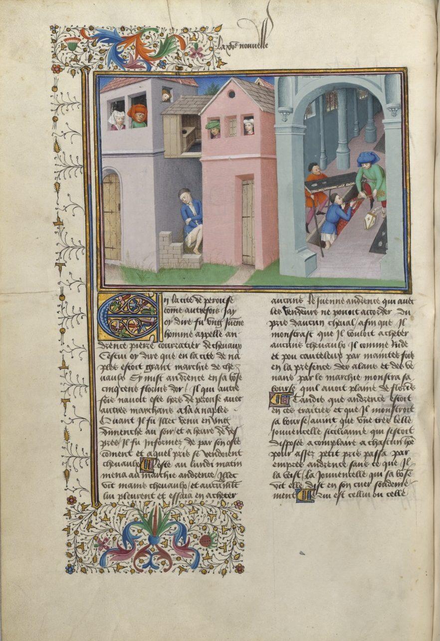 Boccaccio Decameron, Ms. 5070, fol 54v