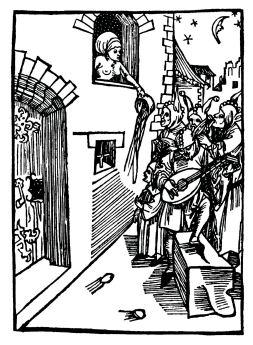 Sebastian Brandt, Narrenschiff, 1494: von nächtlichen Hofieren